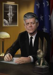 "Portrait of JFK from alternate future game ""Prey"""